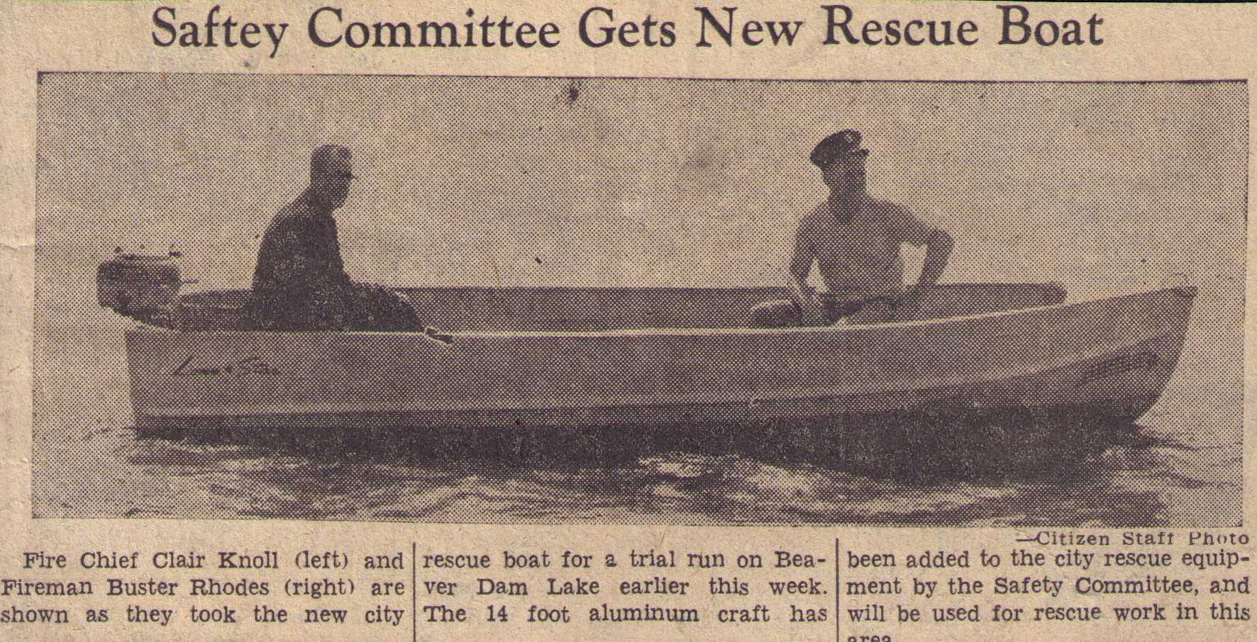 1955 Rescue Boat