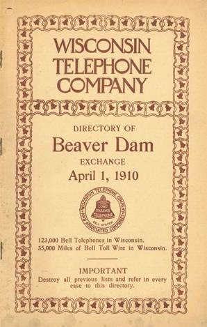Beaver Dam Telephone Books