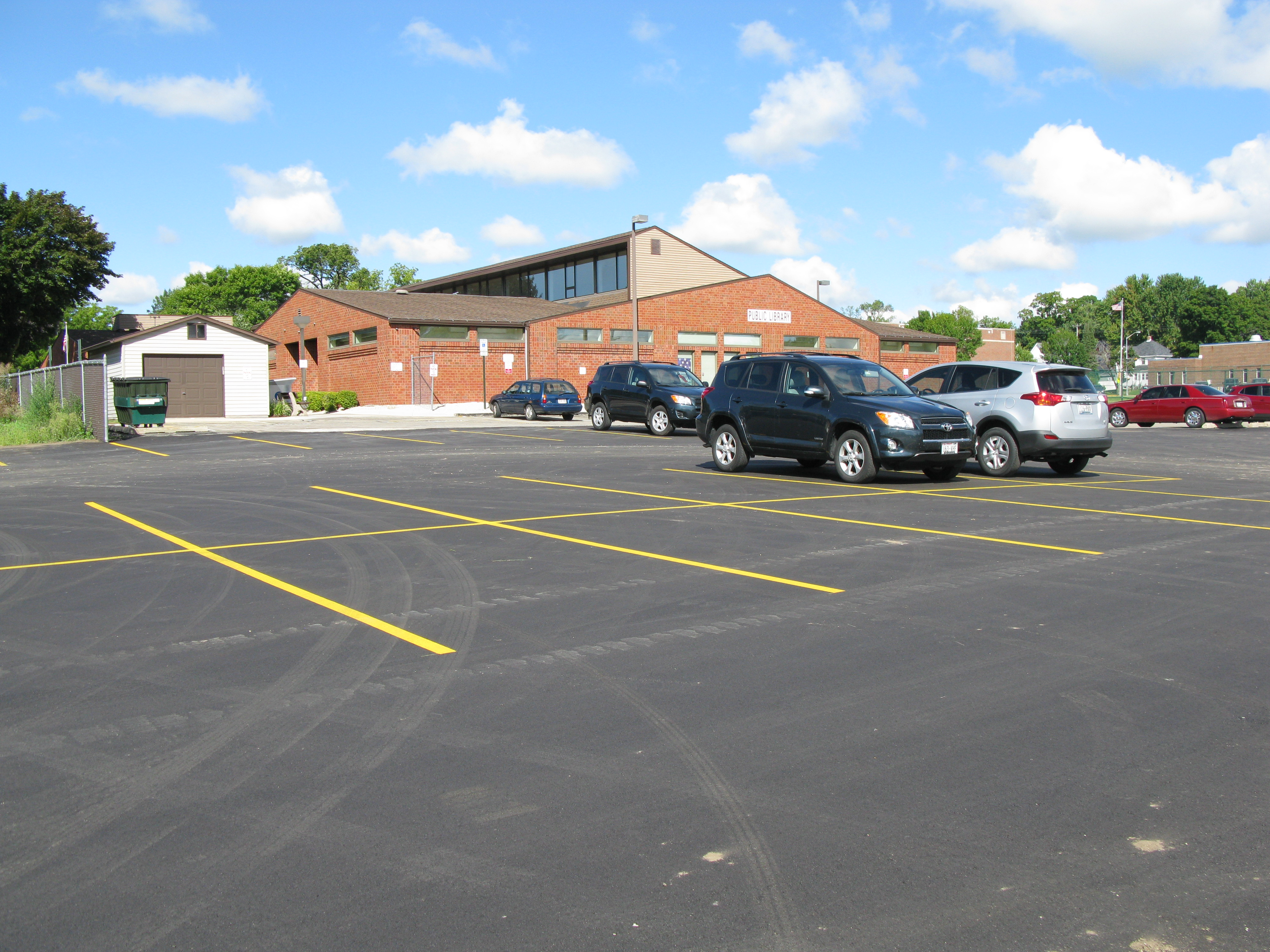 Library Parking Lot Expanded