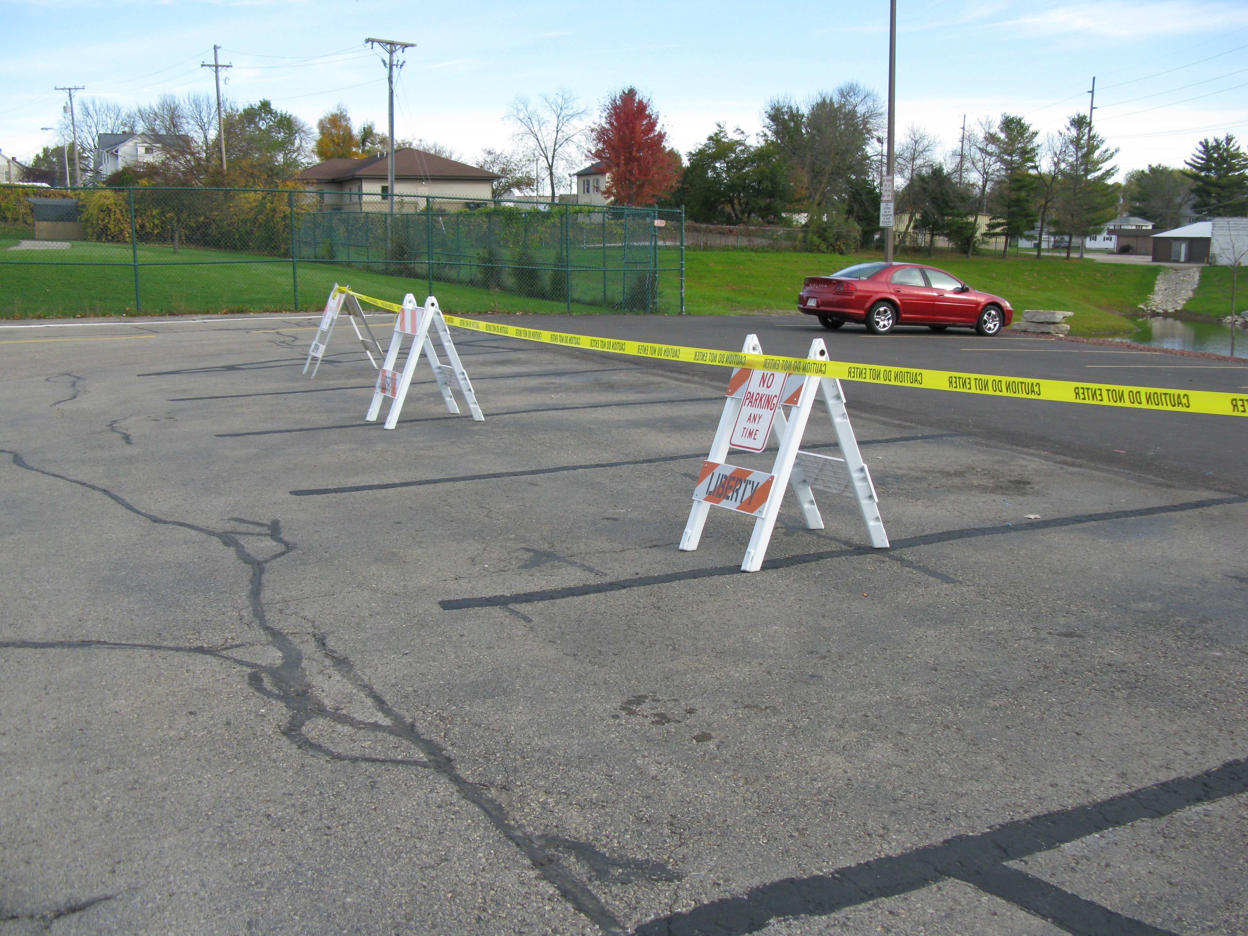 Parking stalls eliminated as part of the plan