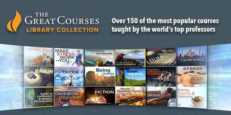 The Great Course Library Collection is available too!